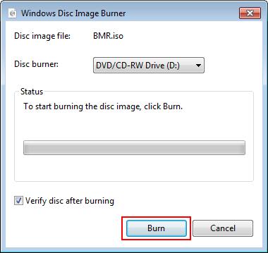 Windows Disc Image Burner: Click Burn