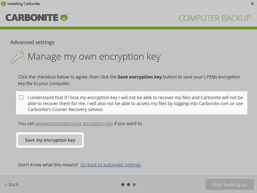 Save Encryption Key