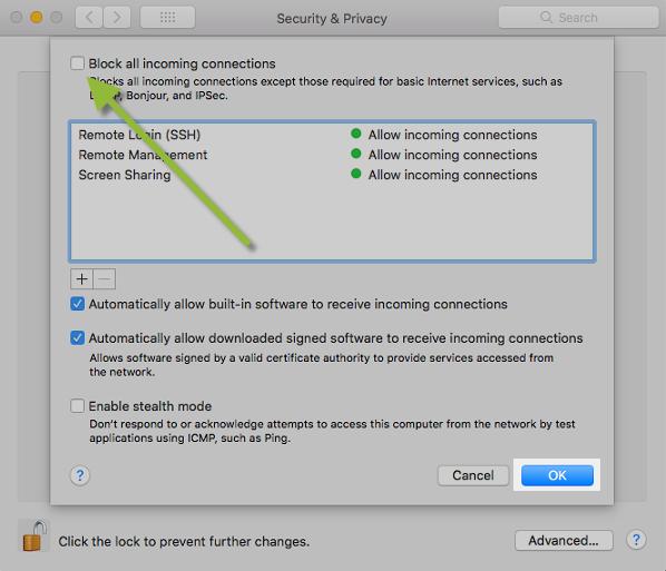 Free firewall for mac
