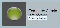 Windows Administrator Sample Screenshot
