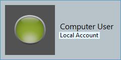 Windows User Sample Screenshot