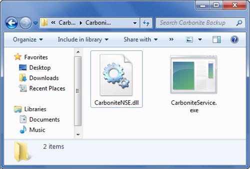 Windows 7 Fie Explorer: Navigate to C:\Program Files\Carbonite\Carbonite Backup