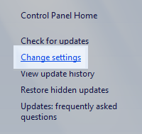 Windows 7 Control Panel: Change Settings