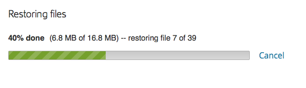 Restore Progress, Mac 2.x