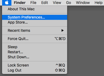 Apple Menu: System Preferences