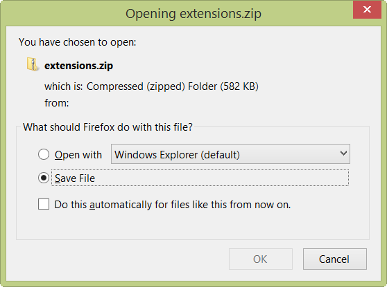 Multiple files will be downloaded as a zip file.