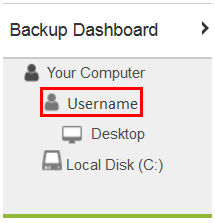 Click the Username to browse the files associated with that user.