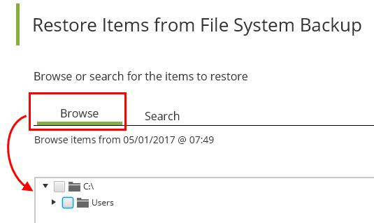 Restore Browse