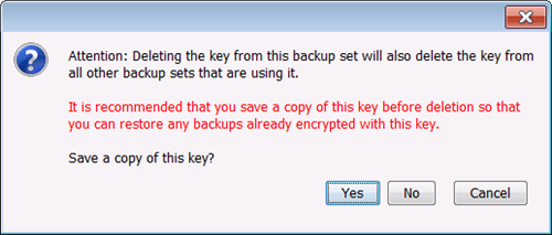 Confirm Deletion of Encryption Key