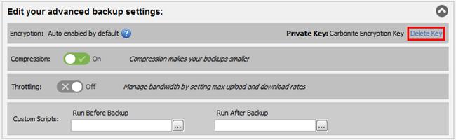 Delete Encryption Key