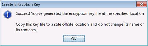 Encryption Key Created