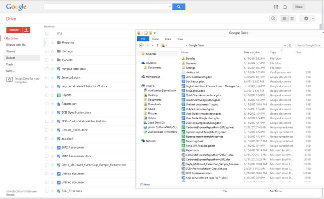 Google docs web